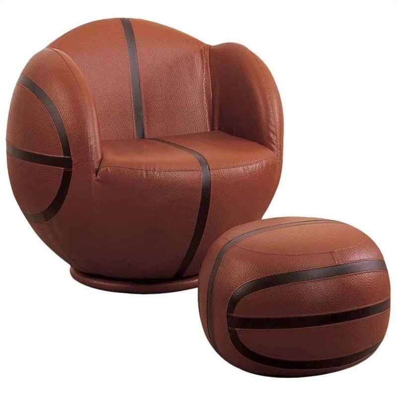 Acme All Star Basketball 2-Piece Chair and Ottoman Set