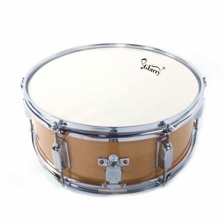 glarry 14x5 5 inch professional snare drum drumsticks drum key strap set burlywood. Black Bedroom Furniture Sets. Home Design Ideas