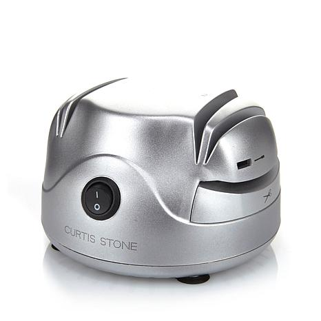 Click here to buy Curtis Stone Knife Sharpener 2 Stage + Scissor sharpener and Screwdriver Refurbished by WOLFGANG PUCK.