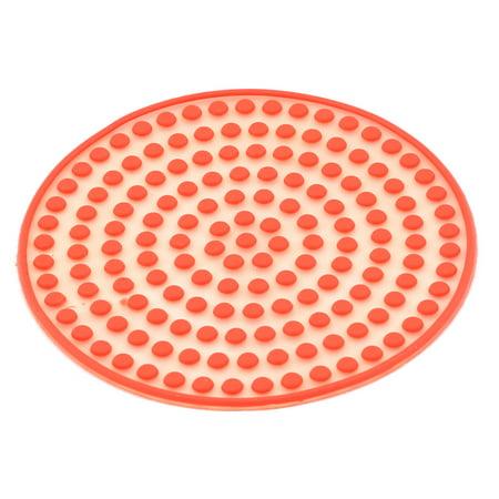 Forme ronde en silicone résistant à chaleur Désign Points Bol Tasse Tapis présentoir à bouteilles Tampon - image 3 de 3
