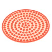 Silicone Round Shape Dots Design Heat Resistant Cup Bowl Mat Pad Coaster Red for Christmas