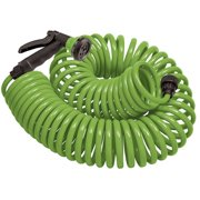 Orbit 27389 50-Foot Coil Hose with Nozzle, Lime