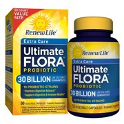 Renew Life Extra Care Probiotic, Ultimate Flora, 30 Billion, 50 Capsules