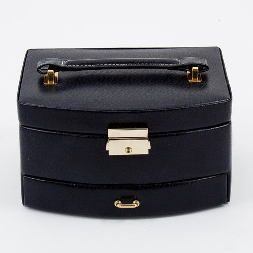 Trinelle Leather Jewelry Box - 7.25W x 4H in.