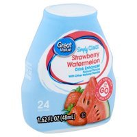 (2 Pack) Great Value Simply Clear Strawberry Watermelon Drink Enhancer, 1.62 fl oz