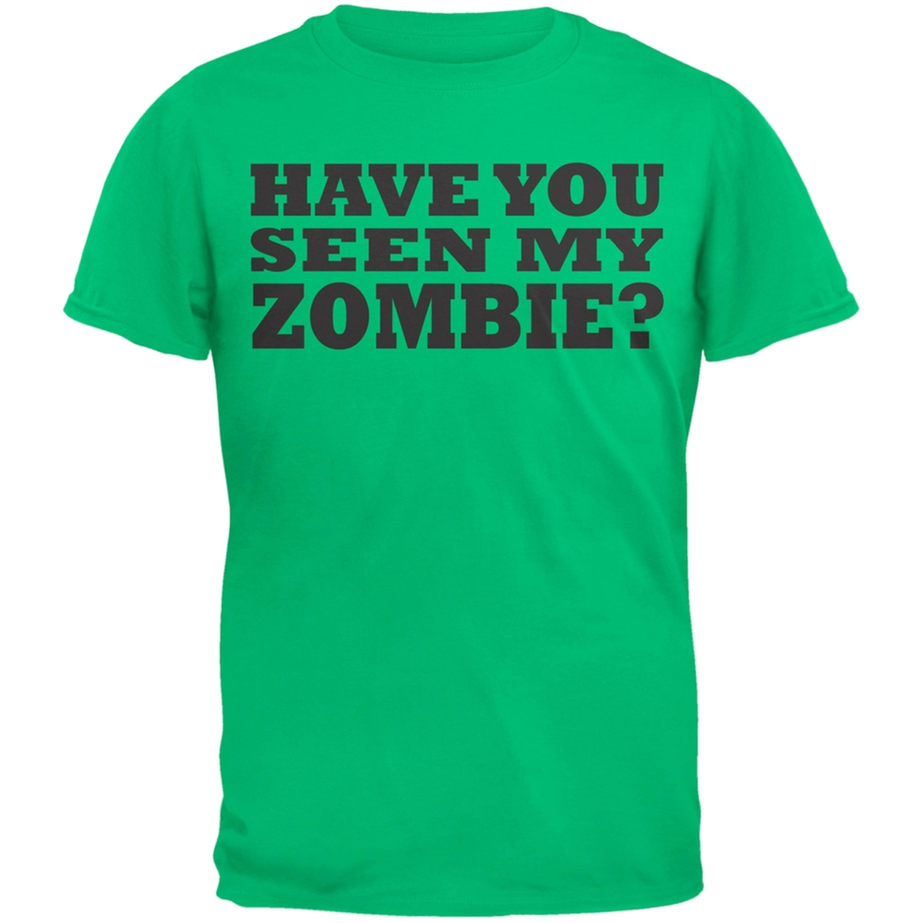 Have You Seen My Zombie Flip Up Green Youth T-Shirt