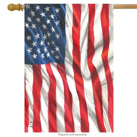 American Flag Waving Patriotic House Flag USA Stars & Stripes 28
