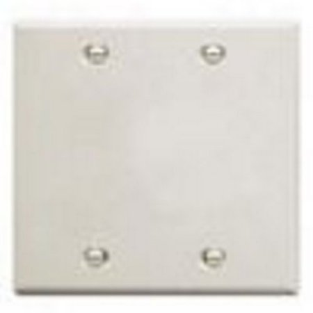 Faceplate Blank Insert - ICC ICC IC630EBDWH FACEPLATE, 2 GANG, BLANK, WHITE