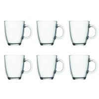 Bistro Coffee Mug 6-Pack, 12 Oz., Clear