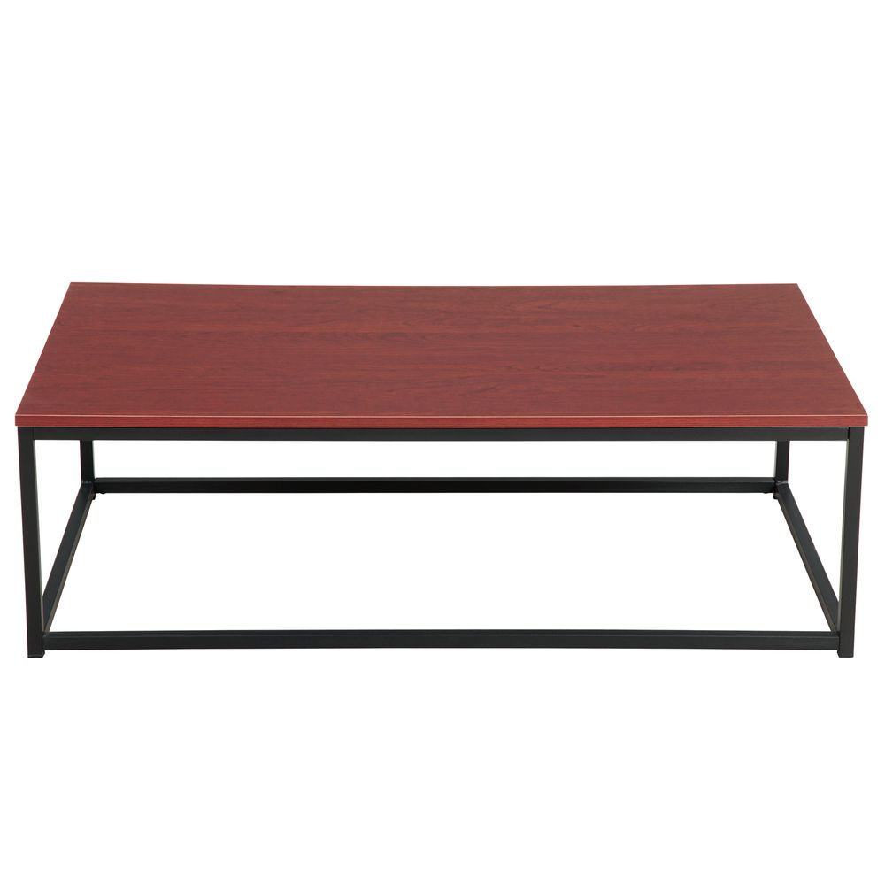 1 Pcs Coffee Table Red Brown Rectangular For Kitchen Restaurant Bedroom Living Room And Many Other Occasions Walmart Com Walmart Com