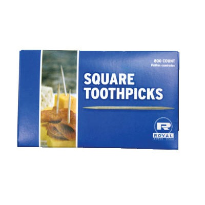 "Square Wood Toothpicks, 2 3/4"", Natural RPPR820SQ"