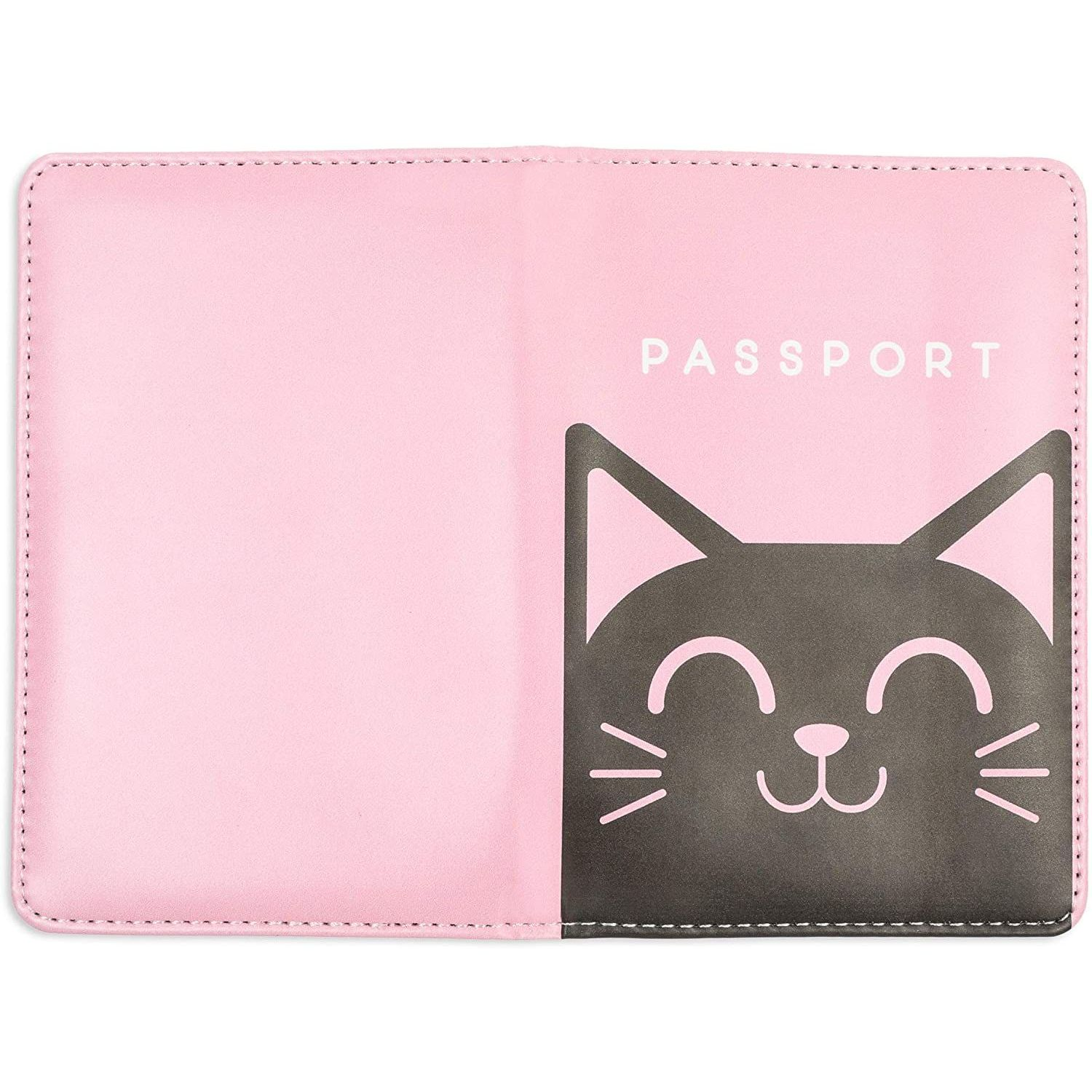 UNICEU Fashion Travel Passport Holder Pouch Cover Case Wallets Cute Animal Owl Printed for Women