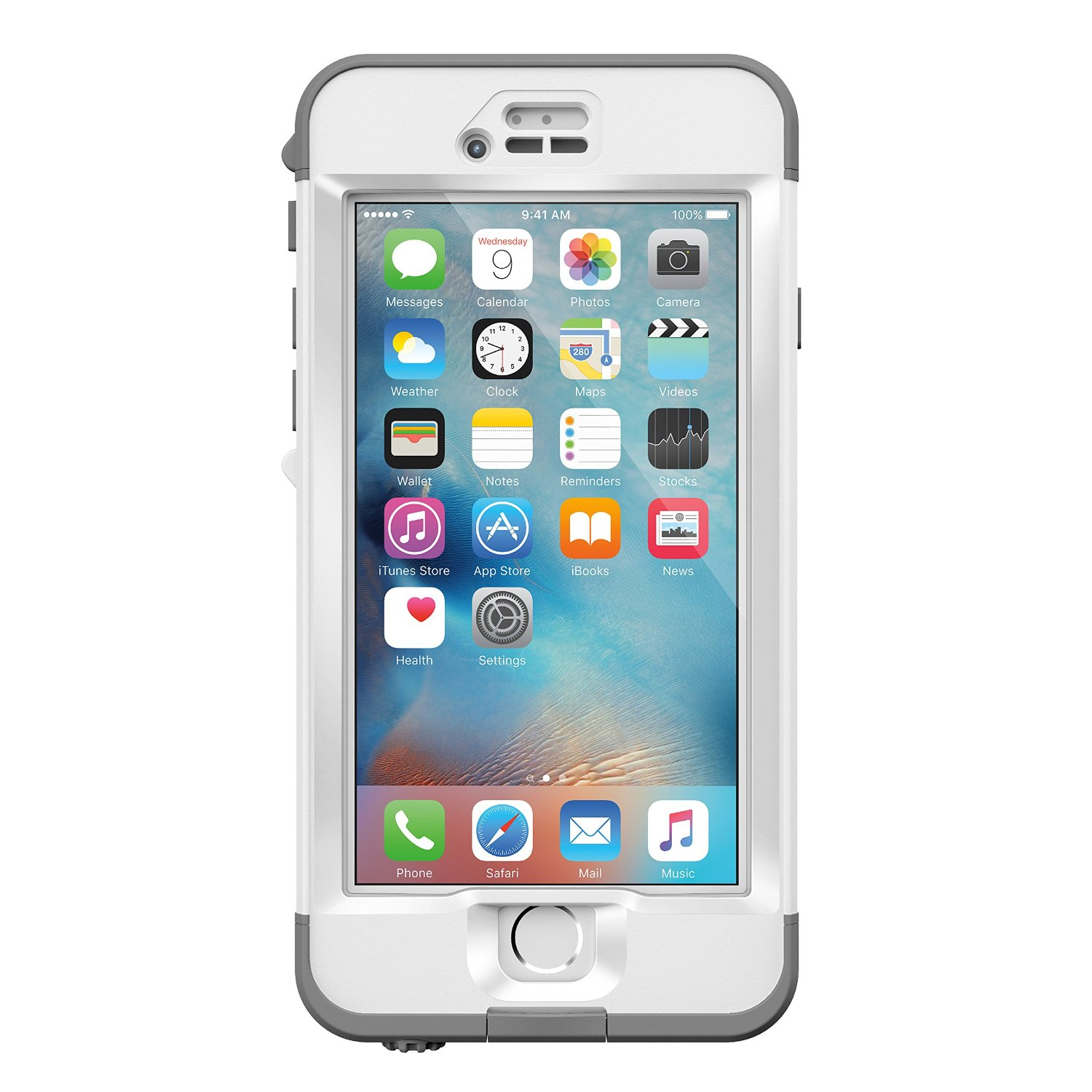 sports shoes 147bd c6dee LifeProof Nuud Series Waterproof Case for iPhone 6s Plus - White / Gray