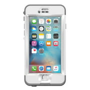 LifeProof Nuud Series Waterproof Case for iPhone 6s Plus - White / Gray