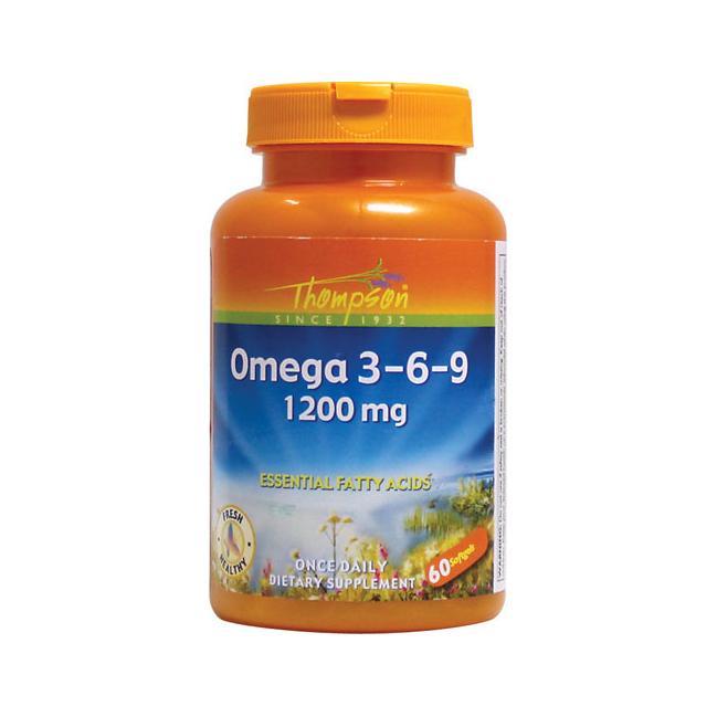 Thompson Nutritional Products Omega 3 6 9 60 Softgel Walmart Com