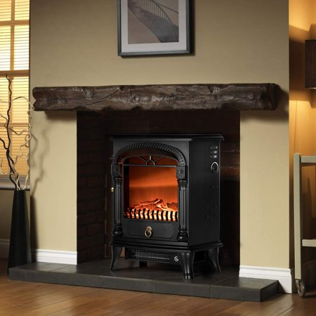 110V 20 Inch Portable Electric Fireplace Stove Heater ()