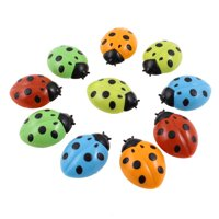 Unique Bargains 10 in 1 Ladybug Shaped Plastic Cover Washing Machine Fridge Refrigerator Magnets