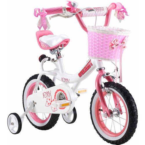Royalbaby Jenny Princess Pink Girl's Bike with Training Wheels and Basket, Perfect Gift for Kids, 16 inch wheels