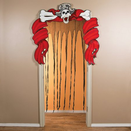Fun Express - Ragged Ship Door Curtain for Halloween - Party Decor - Door Decor - Door Borders & Curtains - Halloween - 1 Piece