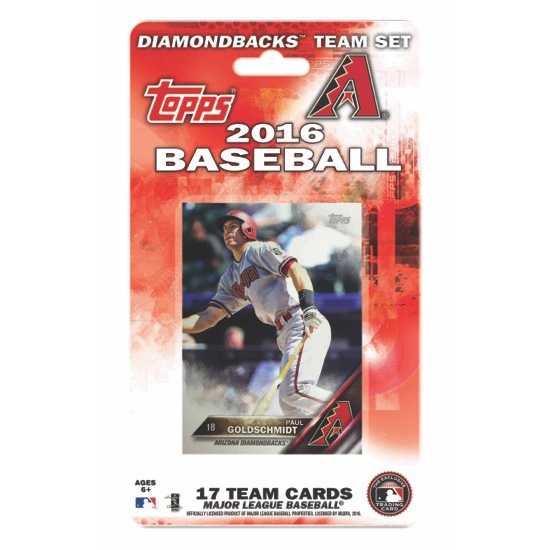 Arizona Diamondbacks 2016 Trading Card Team Set - No Size