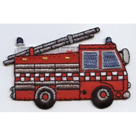 Truck Patch (Rescue Fire Engine - Truck - Iron on Applique/Embroidered Patch )
