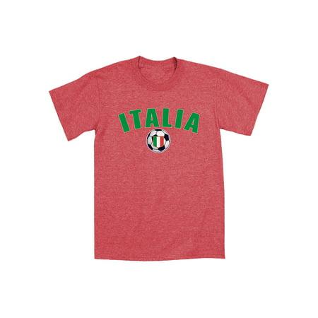 Italia Soccer Ball Goalie Football Fun Cool Trendy Sports Novelty Mens T-Shirt