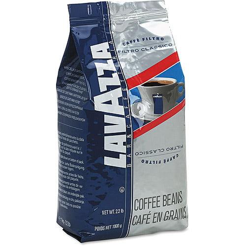 Lavazza Filtro Classico Whole Bean Italian House Blend Coffee, 2.2 lb