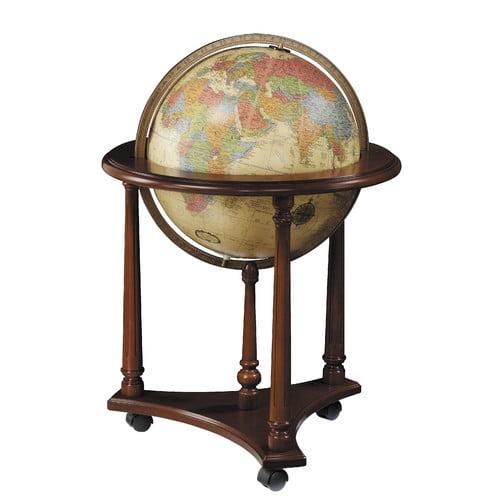 Replogle Globes Lafayette Antique Aluminum Floor Globe