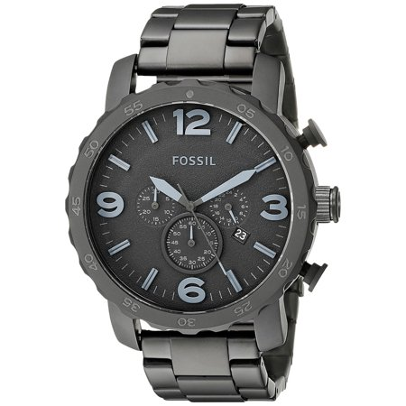 Fossil Set Wrist Watch - Fossil Men's Nate Chronograph Smoke Stainless Steel Watch, JR1401