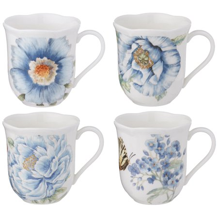 - Lenox Butterfly Meadow Assorted Blue Mug, Set of 4