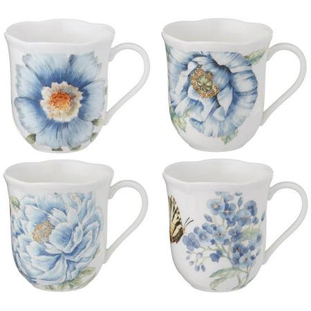 Lenox Handles (Lenox Butterfly Meadow Assorted Blue Mug, Set of)