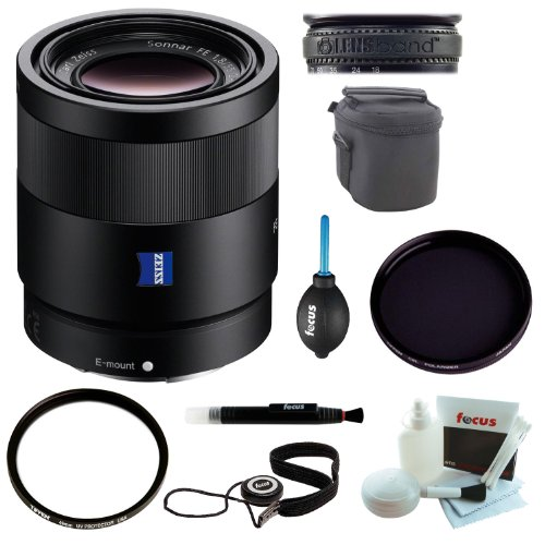 Sony SEL55F18Z Sonnar T* FE 55mm f/1.8 ZA Lens with Deluxe Accessory Kit
