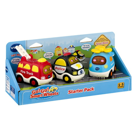 VTech Go! Go! Smart Wheels Starter Pack (Fire Truck, Police Car and Helicopter) ()