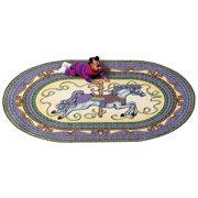 Joy Carpets Carousel Horse Area Rug