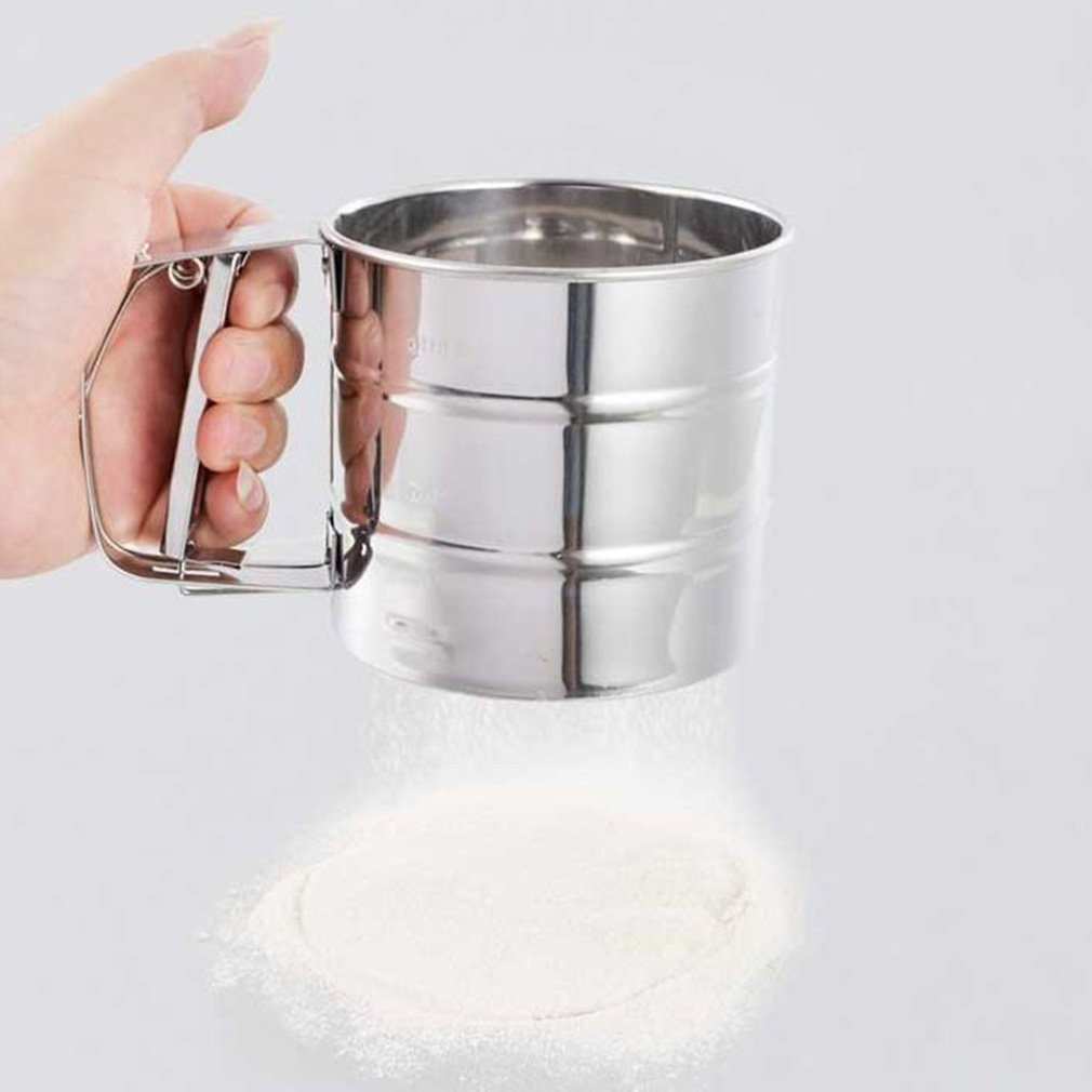 2017 New Superior qualityStainless Steel Mesh Flour Sifter Mechanical Baking Icing Sugar Shaker SieveStylish,... by