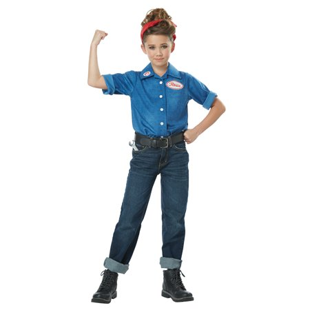 1940's Rosie the Riveter Child Costume for $<!---->