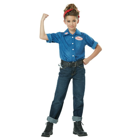 1940's Rosie the Riveter Child Costume
