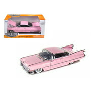 1959 Cadillac Coupe Deville Diecast Car Model 1/24 Pink Die Cast Car by Jada