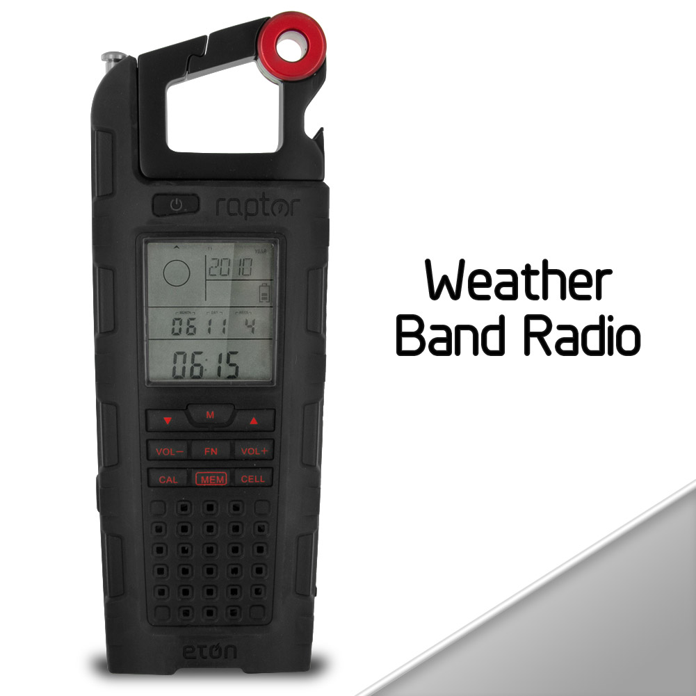 Eton Raptor Solar Charge Emergency & Weather Band Radio (Black)