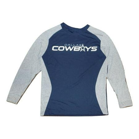 eb3e24b93db Dallas Football Cowboys Youth Dash Dri-Fit Performance Long Sleeve Navy T- Shirt - Walmart.com