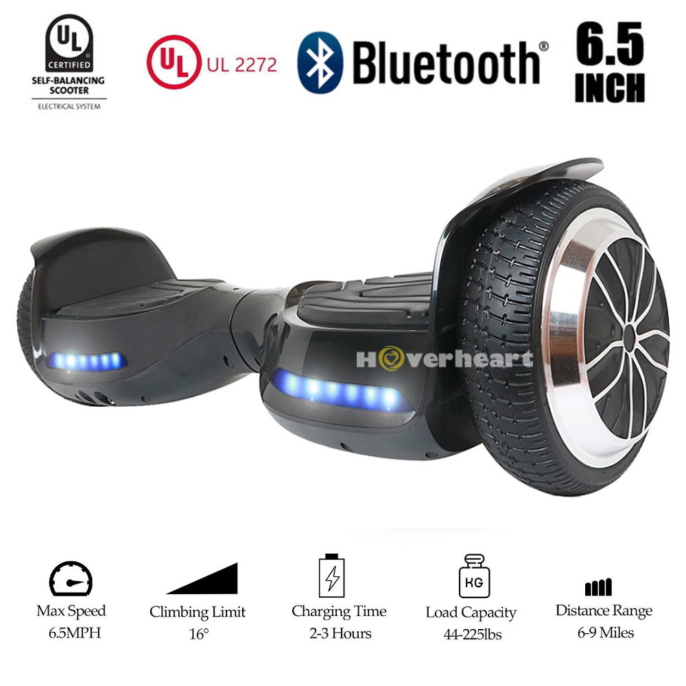"""Hoverboard Two-Wheel Self Balancing Electric Scooter 6.5"""" UL 2272 Certified, Black by"""