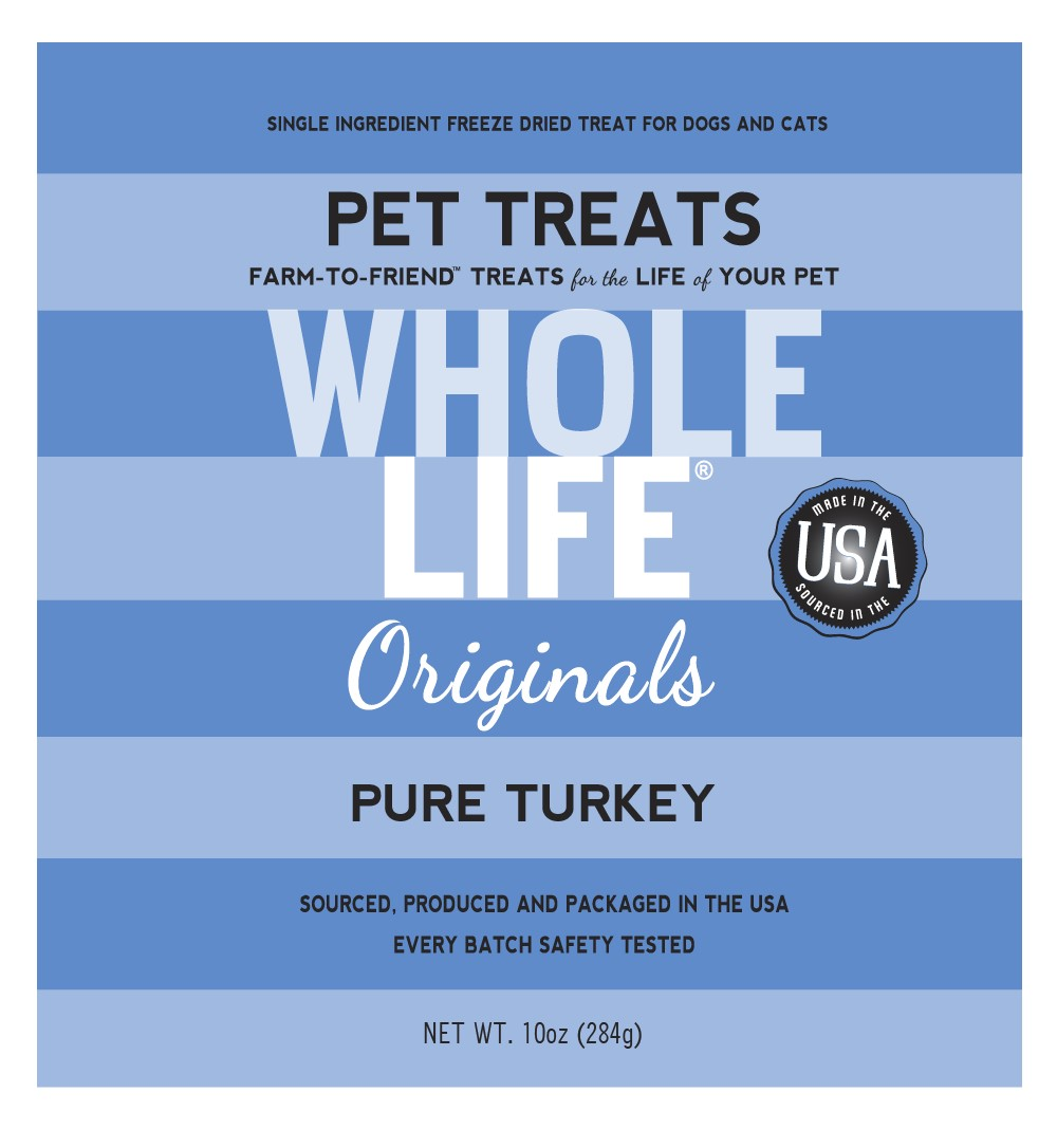 Whole Life Originals Grain-Free Pure Turkey Pet Treats, 10 Oz