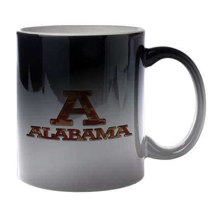 KuzmarK Black Heat Morph Color Changing Coffee Cup Mug 11 Ounce - Alabama Red Camouflage