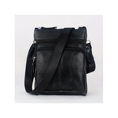 Vintage Men's Casual Business Leather Shoulder Laptop Messenger Handbag Chest Bag ()
