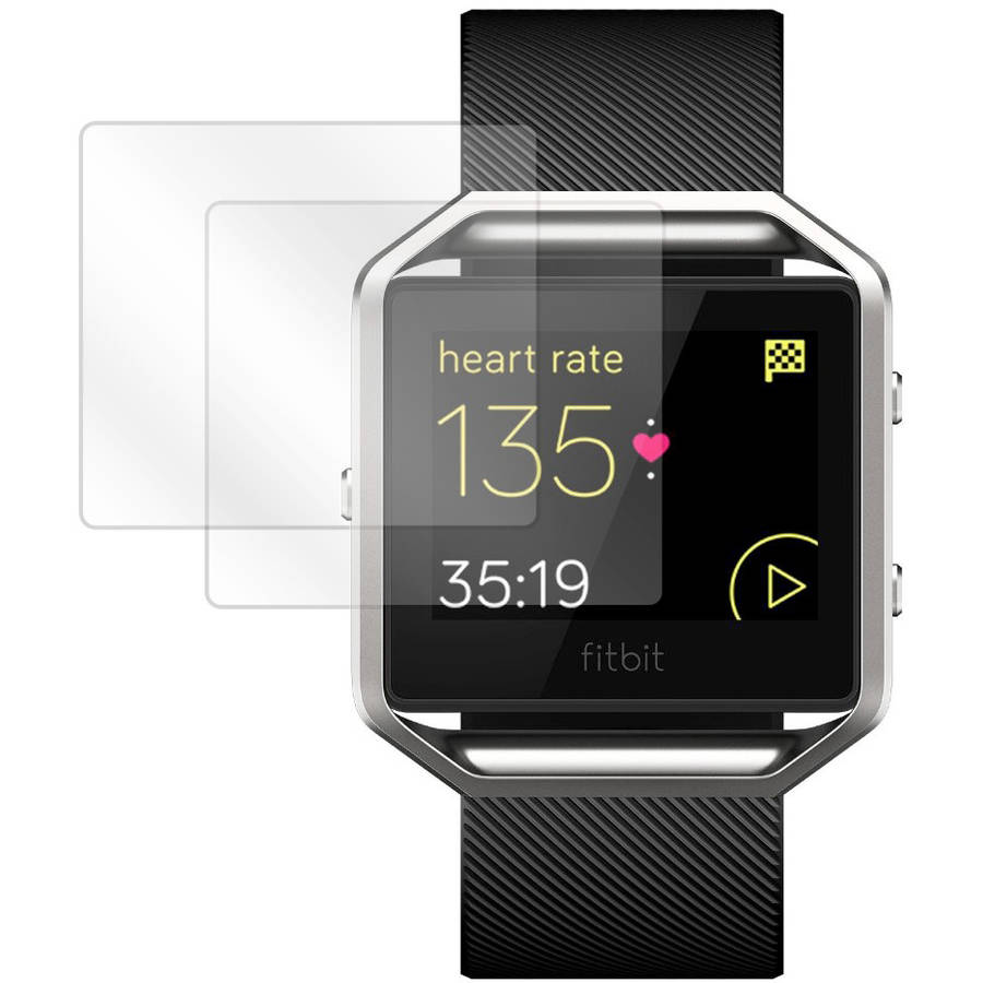 BoxWave ClearTouch Crystal HD Film Skin for Fitbit Blaze, 2-Pack