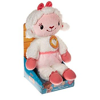 Disney Doc Mcstuffins Light Up Cuddles & Hugs Lambie Plush