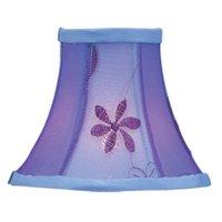 Livex Lighting Violet Embroidered Floral Silk Bell Clip Shade