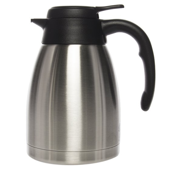 Service Ideas 1 2 Liter Coffee Pot Thermal Carafe Stainless Steel Pitcher For Hot Beverage Server Insulated