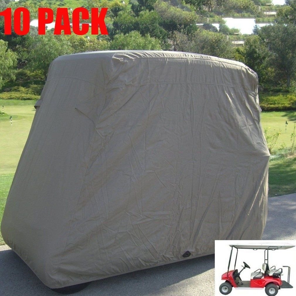 New MTN-G 10 Pack Waterproof 4 Passenger Golf Cart Taupe ...