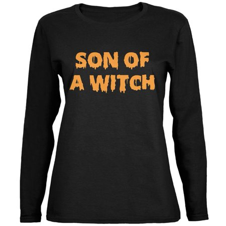 Halloween Son (Halloween Son of A Witch Black Womens Long Sleeve)